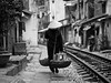 Walking down the tracks, Tran Phu - Hanoi (adde adesokan) Tags: street travel people pen photography asia streetphotography documentary olympus vietnam ep3 streetphotographer m43 mft mirrorless microfourthirds featuredonadidapcom theblackstar mirrorlesscamera streettogs addeadesokan