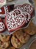 Valentine heart cookies (nikkicookiebaker) Tags: cookies heart valentine