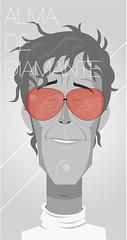 Alma de Diamante. (medialunadegrasa) Tags: portrait illustration flaco spinetta rocknacional almadediamante