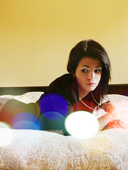 funny sunday (perje.) Tags: light portrait cute girl photography spring bed edited room analogue bookeh nikonflickraward belwilrandewu