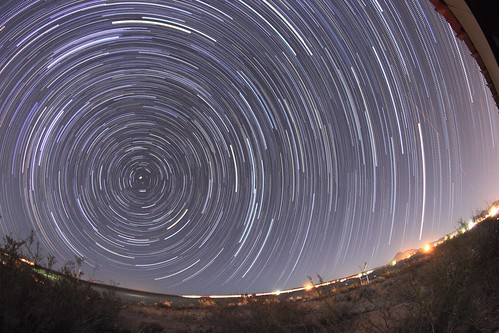 Polaris Star Trails in Leasburg Dam, NM