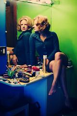 Ms. January reflecting (rainflies) Tags: reflection hair bathroom mirror sweater nikon 60s sink retro hairspray d700 bubbleflip