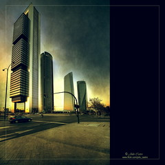 Four Towers (Julio_Castro) Tags: madrid nikon ciudad torres rascacielos plazadecastilla businessarea cuatrotorres fourtowers nikond700 juliocastro nikor1424