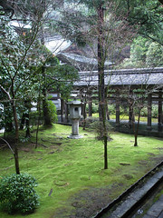 Ryoanji, Kyoto (knkppr) Tags: trees tree green rain japan stone garden march moss spring kyoto path branches traditional 2006 covered lantern lush ryoanji