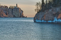 Winter Split Rock (Lake Vermilion1) Tags: winter light sunset cliff lighthouse lake ice water minnesota sunrise landscape nikon rocks shoreline superior northshore lakesuperior splitrock lakesuperiornorthshore d7000 nikond7000 mygearandme nikon7000 lakevermilionphotos