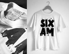 SixAM T-Shirt (lgnore) Tags: white black shirt illustration design am adobe illustrator six ignore