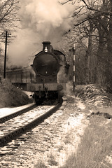 KWVR Winter Steam Gala (Andy Beattie Photography) Tags: uk england monochrome train yorkshire railway steam halifax hdr steamtrains kwvr calderdale uksteam andybeattie ukrabbiter viewbug andybeattiephotography