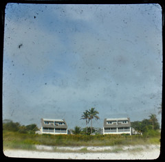 (Jeffrey Wehs) Tags: two sky house blur tree beach sand nikon florida palm dirt greenery dust viewfinder d5000