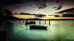 Calmer waters (StephEvaPhoto) Tags: longexposure sunrise eos exposure glow jetty tide low australia nsw newsouthwales lowtide centralcoast woywoy canoneos50d newsouthwalescentralcoast sigma1750mmf28exdcos snapseed