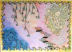 ATC Garden Things (Windowfog) Tags: abstract atc artist card aceo trading zentangle