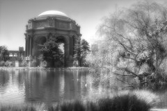 Palace of Fine Arts Infrared (cstout21) Tags: sanfrancisco california park ca chris trees vacation plants usa reflection water landscape us unitedstates peaceful landmark palace bayarea infrared palaceoffinearts westcoast hdr highdynamicrange stout ngoc canon60d stoutandstout northamera