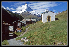 Findeln church and the Matterhorn (sjb4photos) Tags: church schweiz switzerland suisse matterhorn swissalps findeln sunegga cantonvalais epsonv500