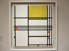 Painting No. 9 (JSDesign) Tags: red black art dutch lines yellow museum painting washingtondc dc washington artist 9 canvas oil 1942 mondrian 1939 phillipscollection pietmondrian no9 2011 paintingno9