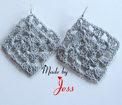 "Crochet Granny Square Earrings • <a style=""font-size:0.8em;"" href=""http://www.flickr.com/photos/66263733@N06/6913855977/"" target=""_blank"">View on Flickr</a>"