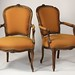 256. Pair of French Arm Chairs