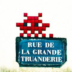 Space Invaders Rue de la Grande Truanderie (  Pounkie  ) Tags: street streetart paris france spaceinvaders ruedelagrandetruanderie lesrues lesruesdeparis
