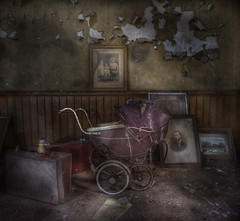 your not afraid of the dark are you :  ( explore ) (andre govia.) Tags: house abandoned photo child photos room ghost andre creepy manor pram govia