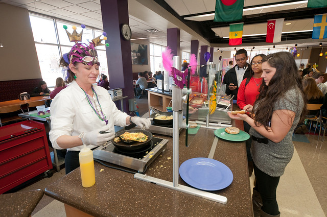 Fat Tuesday in Christian Cafeteria