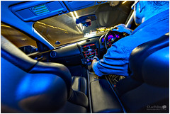 RX 8 interior - Speedlight 52 - Week 6 (LeePellingPhotography.co.uk) Tags: 580exii blue bose car driver flash gel leather led leepelling lighttrails mirror red rx8 seats secondcurtainsync speedlite speedlite52 mazda interior