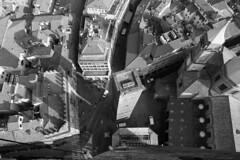 Vertigo (Austin Rea) Tags: city italy white black streets building shadows rooftops bologna lookingdown