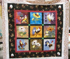 Mary's All Cooped Up (Cherry's Fiber Obsession) Tags: quilting applique rawedge