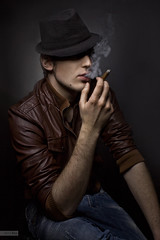 ... (kriar_design) Tags: hat fire smoke cigar pleasure
