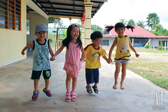 Jumping Kids~ (GI) (Alphone Tea) Tags: life family pink blue light boy red portrait people favorite brown white playing motion black blur color building cute green art home girl beautiful smile grass childhood yellow kids composition contrast speed canon pose garden print children fun happy photography daylight photo amazing jumping model singapore asia shot bright image little bokeh modeling outdoor sister brother great chinese perspective adorable fast front malaysia laugh lantern lovely kampung capture staring kuantan 2012 1755 handhold 60d