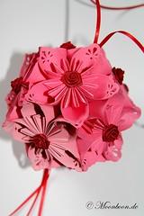 Kusudama Kirschblte (phoenics11) Tags: pink origami kunst rosa hochzeit basteln dekoration kirsche kirschblte kusudama papierblume papierfaltkunst papierfalten dekoartikel papierkugel fleurogami kusudamakirschblte