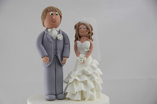 Raf & Jaimee wedding cake toppers