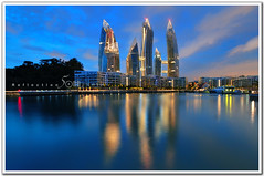 Singapore - Reflections at Keppel Bay Condominium (fiftymm99) Tags: sea reflection building water bay nikon singapore waterfront condominium residental keppel housed nikond300 fiftymm99 gettyimagessingaporeq2 reflectionatkeppelbay