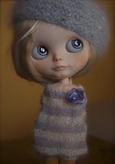 Sweet Blue (**Monica **) Tags: eye hand ooak painted chips blythe custom tibiloo alpacareroot monibl1