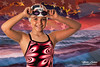Morgan Flag (mikeyasp) Tags: portrait female girl young swimmer bathingsuit googles swimcap beach ocean water flag american patriotic redwhiteblue starsstripes creative photoshop layers