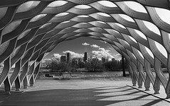 Hancock Honeycomb (rseidel3) Tags: city blackandwhite chicago buildings zoo lincoln northside hancock