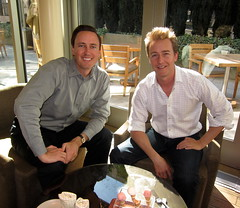 Lunch with Edward Norton (jurvetson) Tags: africa lunch conservation norton edward icecream trust wilderness maasai downinthevalley mwct crowdrise
