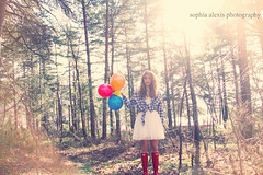 Balloons Don't Help (Sophia Alexis) Tags: blue light red portrait me forest self canon hair balloons eos march dress expression away help dont 7d send ballons 2012
