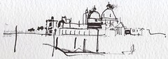 tiny sketch trying out a new coptic brush pen... (skyeshell) Tags: venice blackandwhite panorama pen buildings brush coptic freedrawing tinysketch looseline