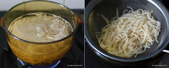 How to make hakka noodles step1