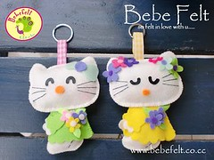 Key chain Hello kitty (Bebe Handmade) Tags: keychain hellokitty souvenir keyholder fieltro flanel cutegifts gantungankunci kerajinanflanel kerajinankainflanel