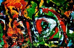 """""""carnevales""""* acrylics, watercolors, india on arches, march 2012 (THE ART OF STEFAN KRIKL) Tags: illustration abstractart modernart carnevales"""