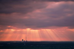 Rays of light (generalstussner) Tags: sky industry clouds germany skyscape landscape deutschland ray dramatic rays drama landschaft industrie ruhrgebiet sunray