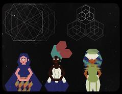 Rayaduro 7: Witching hour (Foehre) Tags: illustration stars geometry magic witches witchcraft vector httprayaduroblogspotcom rayaduro