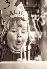 happy birthday.. (hpskurdal) Tags: street light bw cake fun one 1 three nikon missing candles raw dof princess candid 4 blow crown years nikkor 50 portrett gebursdag bokhe d700 instagram