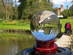 Upside down (ttelyob) Tags: globe sphere crystalball pashley pashleymanor pashleymanorgardens picmonkey