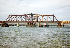 Long Railroad Bridge over the Potomac in Washington D.C. (PhotosToArtByMike) Tags: virginia washingtondc dc washington railway railroadbridge longbridge railtraffic throughtrussswingbridge nationscapital