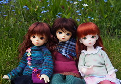 3 little May's on May 3 (Tales of Karen) Tags: white beauty shiny doll skin 1st version may fairy junior bjd normal resin 3rd bluefairy balljointed
