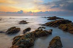 Tanjung Jara (KM SNIPER-X) Tags: sunset seascape nature rock sunrise landscape effects amazing long exposure ray minolta sony slowshutter km jara terengganu tanjung a57 leefilter carzeiss kmsniperx