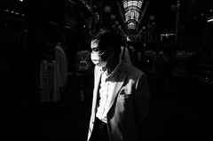Man (Jiajun Yang) Tags: life leica man japan blackwhite saturday east human traveling m82 monochrone voigtlandernokton35mmf14sc