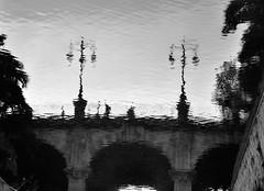 Ficciones (nemenfoto) Tags: bridge reflection reflections puente reflejo pont mallorca palma reflejos baleares ficcion balearic balears ficciones riera nemenfoto