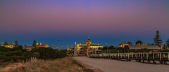 Semaphore from the beach (johnwilliamson4) Tags: sunset buildings landscape outdoor jetty australia clocktower adelaide southaustralia semaphore