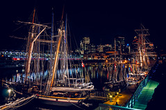 old ships in old port (JimfromCanada) Tags: city festival night port evening harbor boat dock nikon sailing ship harbour montreal peaceful sail serene tallship oldport rigging mastrig